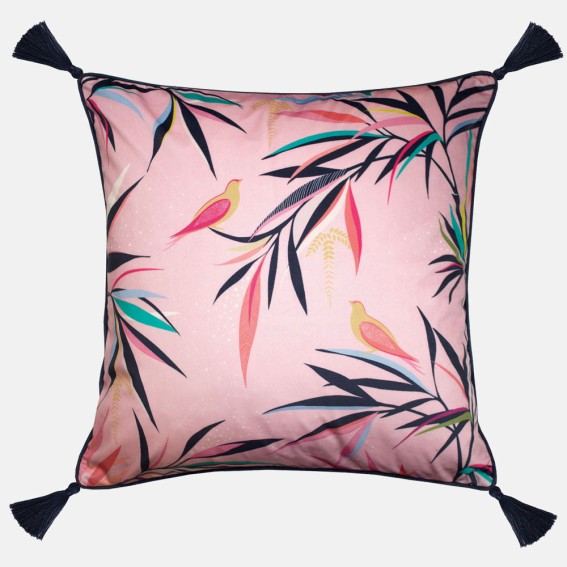 Pale Pink Bamboo Feather Filled Cushion