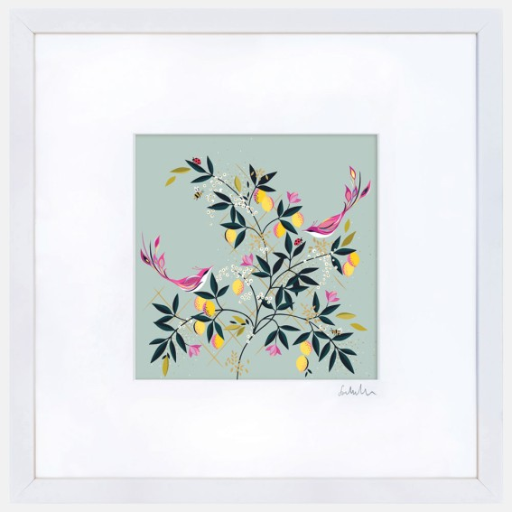 Duck Egg Orchard Large Wall Art