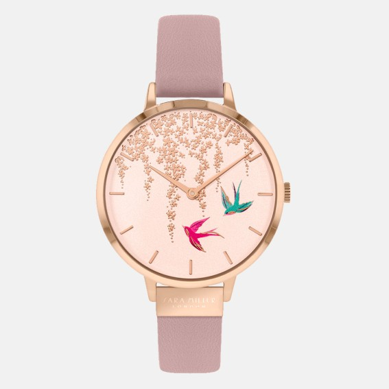 Swallow Rose Gold Pink Watch