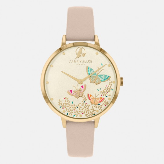 Butterfly Gold Pink Watch