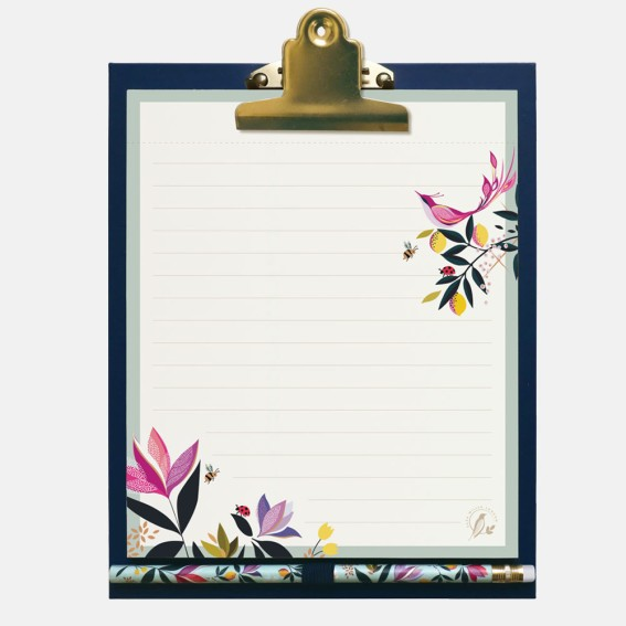 Orchard Clipboard, List Pad and Pencil