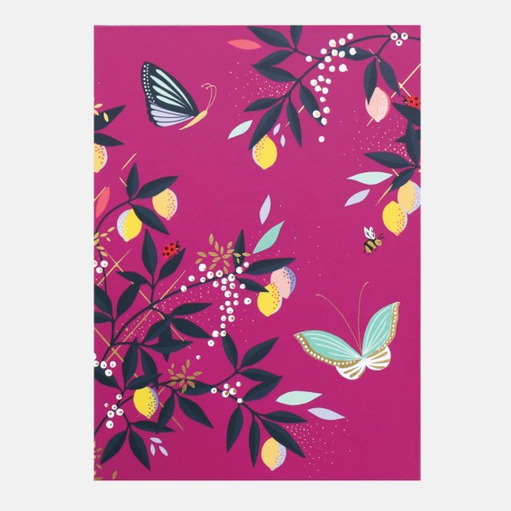 Mauve Orchard Butterfly Sticky Notes and List Pad