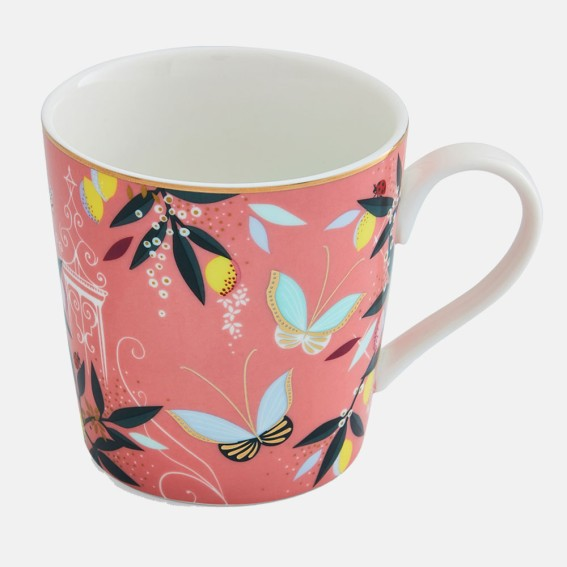 Coral Orchard Butterfly Mug