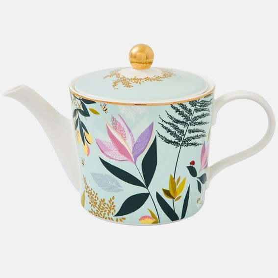 Duck Egg Orchard Floral Teapot