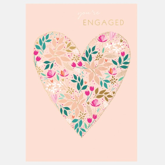 A Heart Full of Love Engagement Card