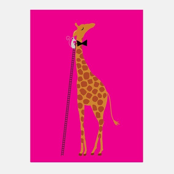 Giraffe and Mouse Card