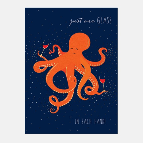 Just One Glass Octopus Card