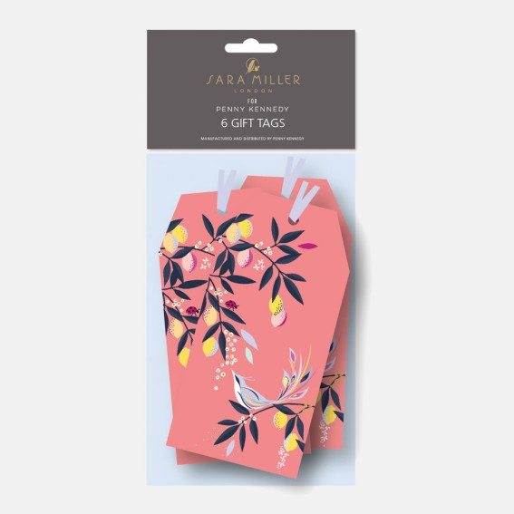 Coral Orchard Birds Gift Tags – Pack of 6