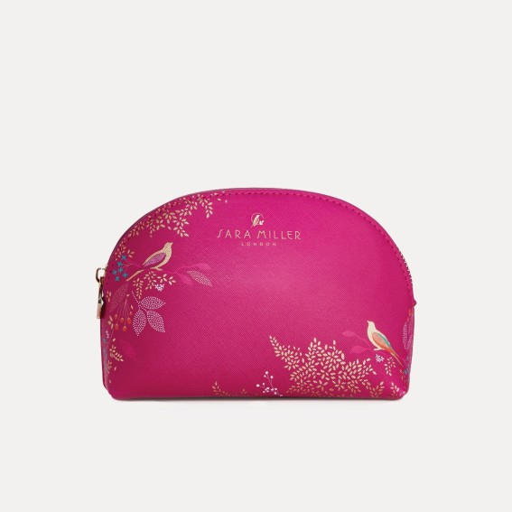 Pink Birds Small Cosmetic Bag