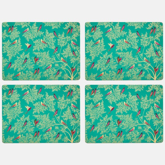 Green Birds Large Placemats - Set of 4