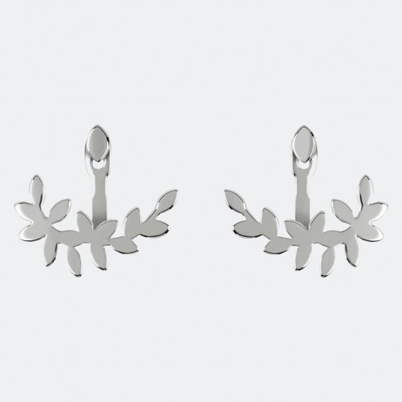 Leaf front and back earrings