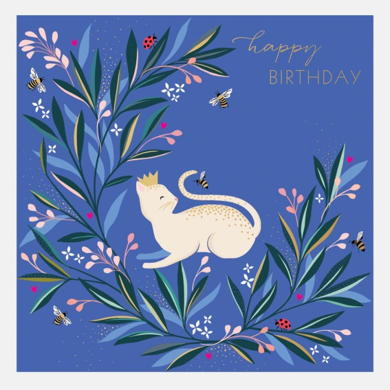 Contented Cat Birthday Card