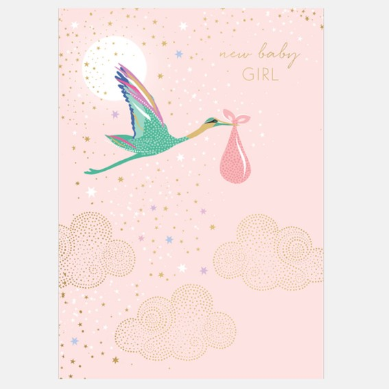 Cards, greeting cards, gift, luxury greeting card, new baby, baby card, congratulations, celebratory card, baby girl,