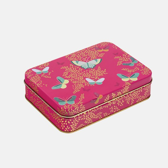 Pink Butterfly Small Tin